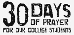 30 Days of prayer - college student logo