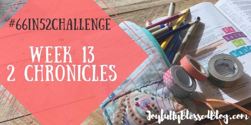 Week 13 - 2 Chronicles